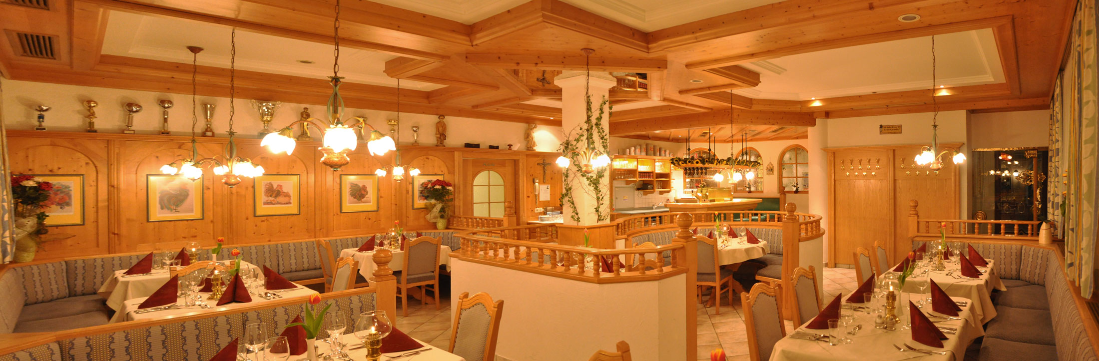 One of the comfortable restaurants in the Hotel Schattauer