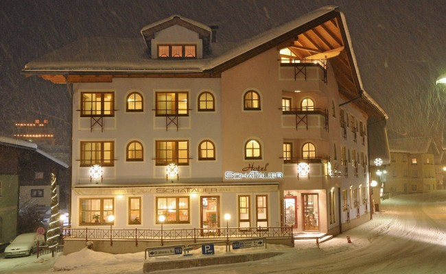 The Hotel Schattauer in Wagrain in the winter time